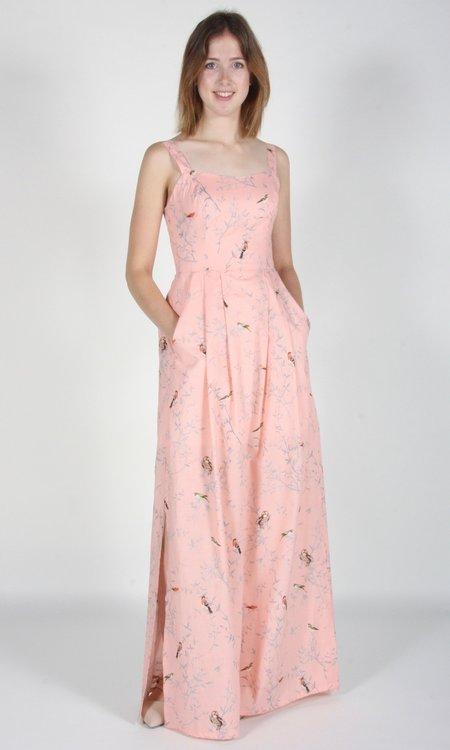 Birds of North America Oropendola Dress - Pink Forest Birds