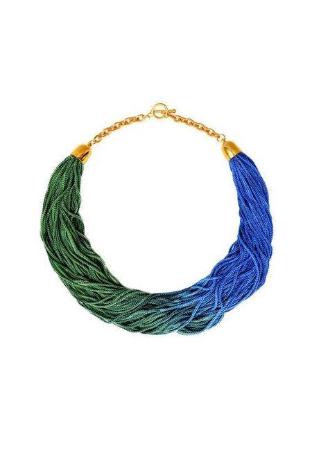 Reason To Be Pretty Ombre Choker - Blue/Green