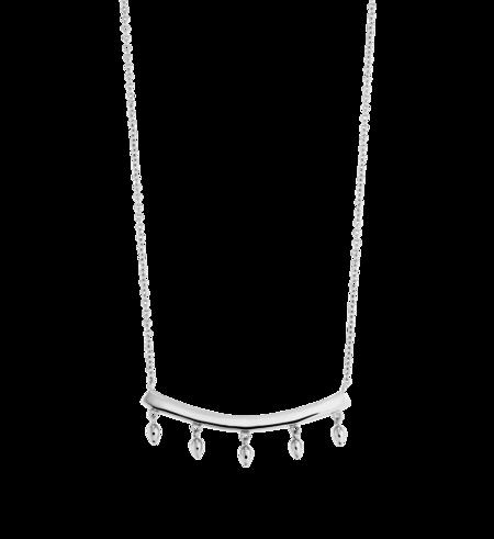Kirstin Ash Bar Droplet Necklace - Silver