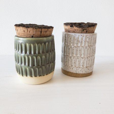 Altar Ceramics Cork Canister - Carved