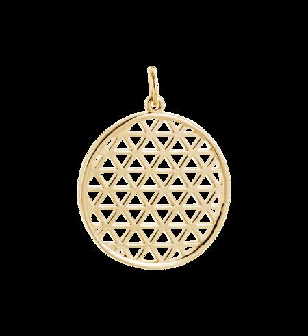 Kirstin Ash Filigree Circle Charm - Gold