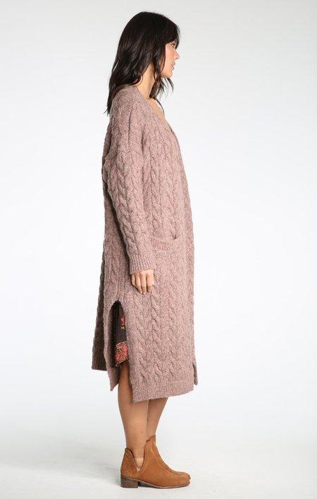 Raga Whitney Chunky Sweater Coat - Mocha