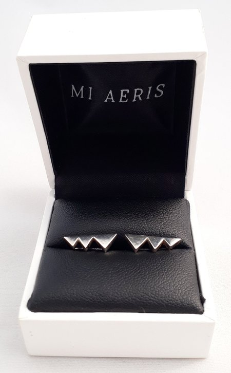 Mi Aeris Stud Bar Ear Climbers - SILVER