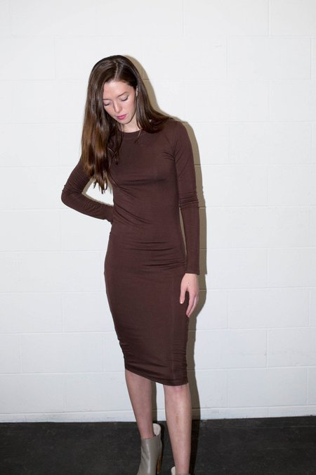 BLQ Basiq LONG SLEEVE MIDI DRESS