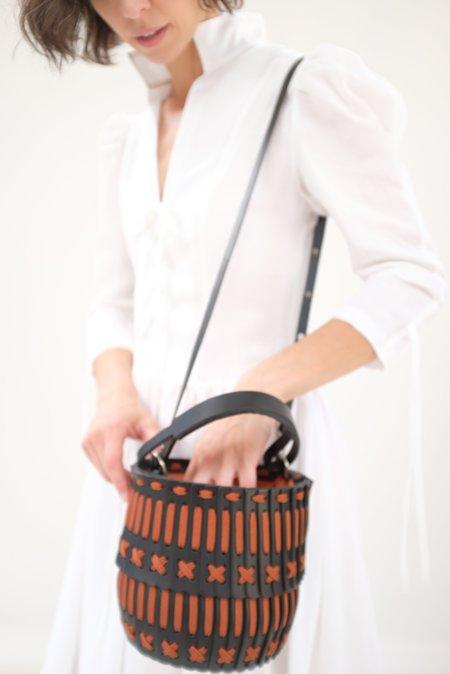 Hatori Basket - Black and Rust