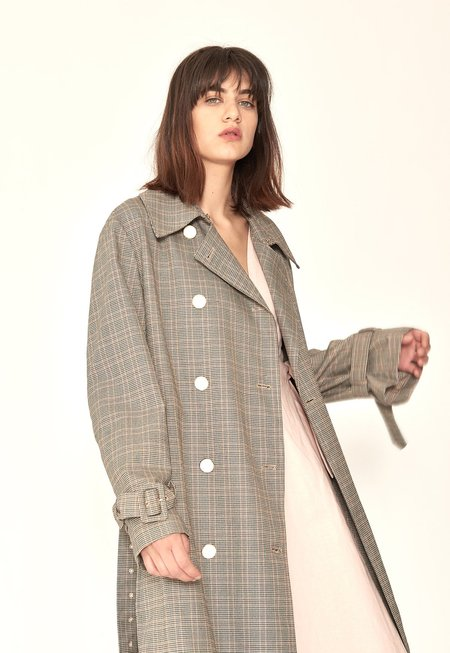 Rocket X Lunch Trench Coat - Check