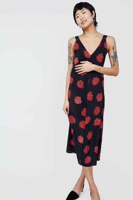 No.6 Hydrangea Estelle Dress - Black/Poppy