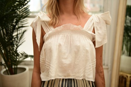 Anaak Fontainbleau Tie Top - White