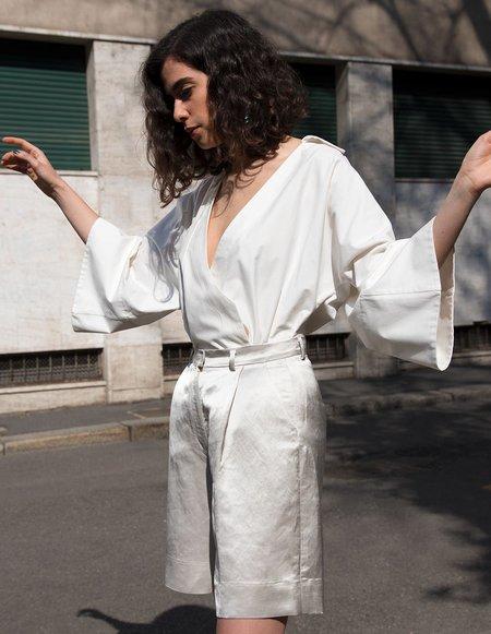 Caftanii Firenze Celine Chemise - White