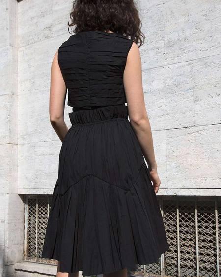 Assel Tun Cotton Top - Black