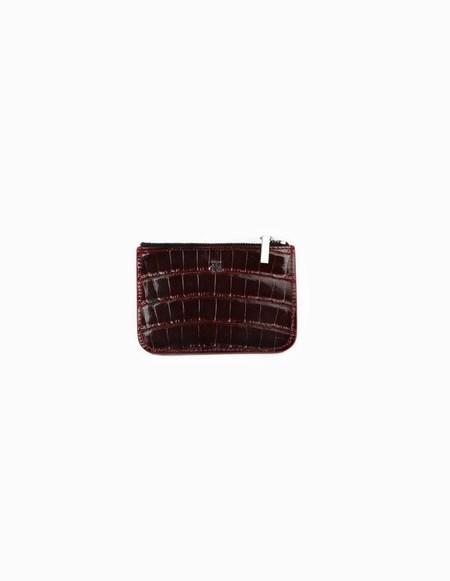 Hugo Matha Bordeaux Alligator Wallet