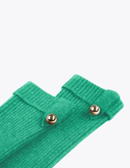Bonnie's Short Eco-friendly Cashmere Arm Warmers - Green