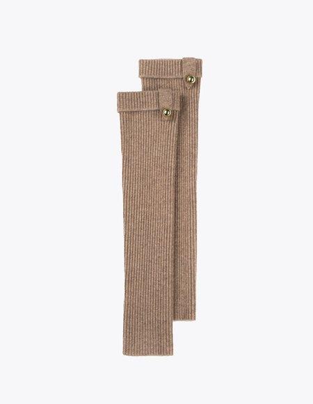 Bonnie's Long Eco-Cashmere Arm Warmers - Beige