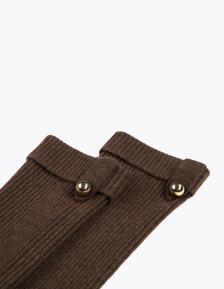 Bonnie's Long Eco-Cashmere Arm Warmers - Brown