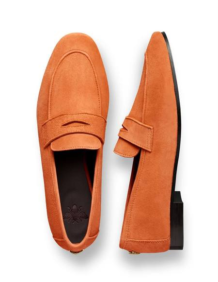 Bougeotte Suede Flaneur Loafer - Ambre