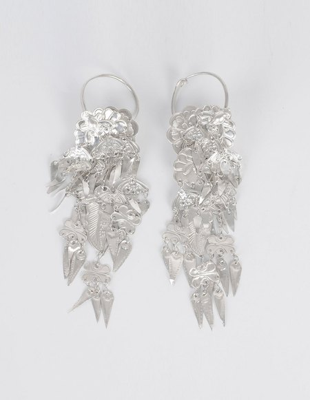Ms Min Tin Silver Earrings