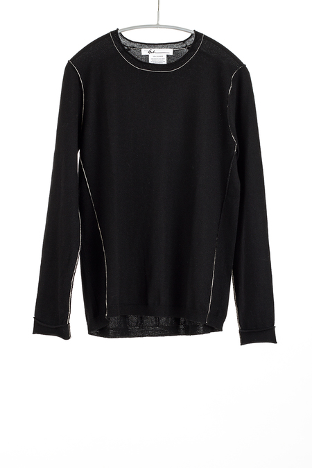 Paychi Guh Cashmere long sleeve Baby Tee - Black