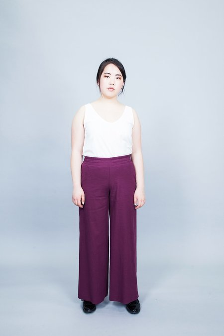 Dagg & Stacey Ambrose Wide Leg Pants - Plum