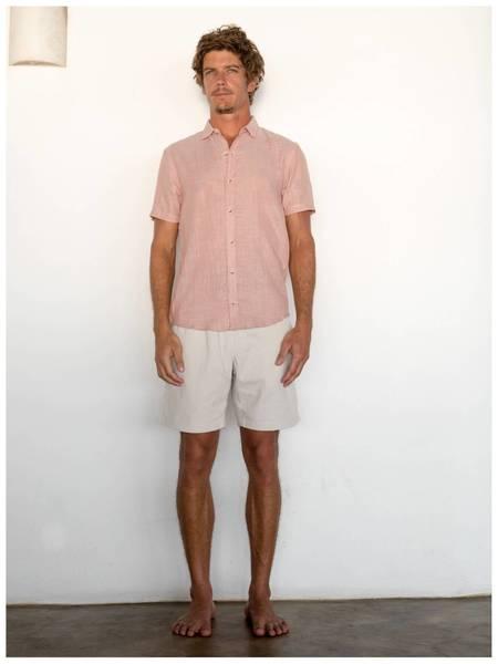 Mollusk Summer Shirt - Rust Pin Stripe