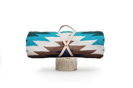 Nipomo Tierra Blanket - Tan + Teal
