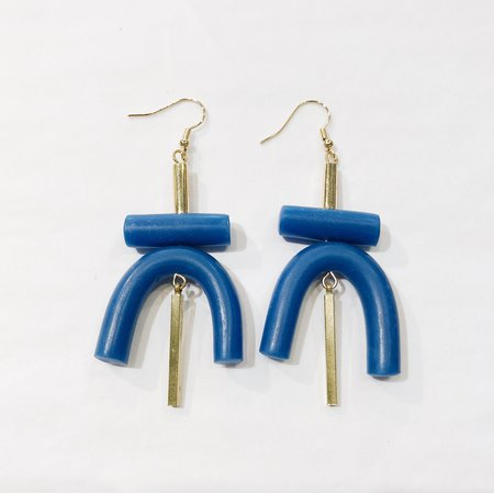 Sonia Gracia Handmade U Earrings - Blue