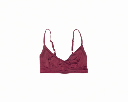 SNAP Organic Silk Soft Bra - Deep Claret Red