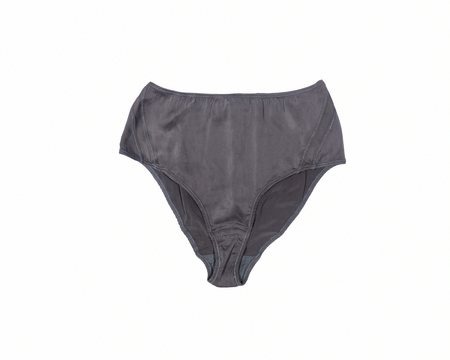 BLAM High Waist Organic Silk Brief - Slate