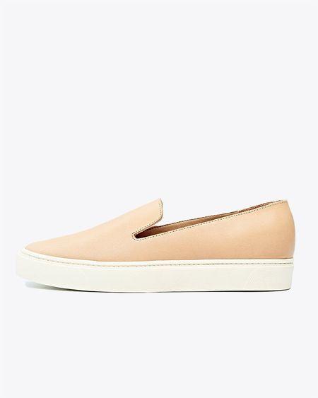 Nisolo Luna Slip On Sneaker - Natural Vachetta
