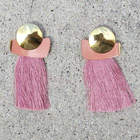 Lizzie Fortunato Mulberry Fringe Earrings