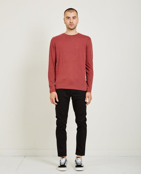 321 CREW NECK LONG SLEEVE TEE - BORDEAUX