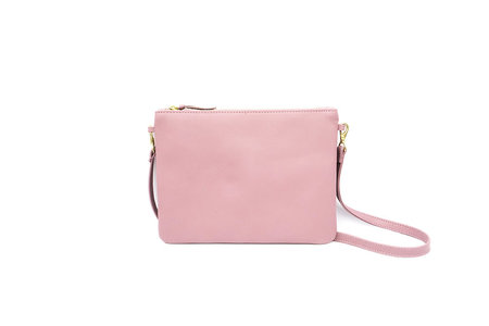LEATHER POUCH PURSE - LILAC