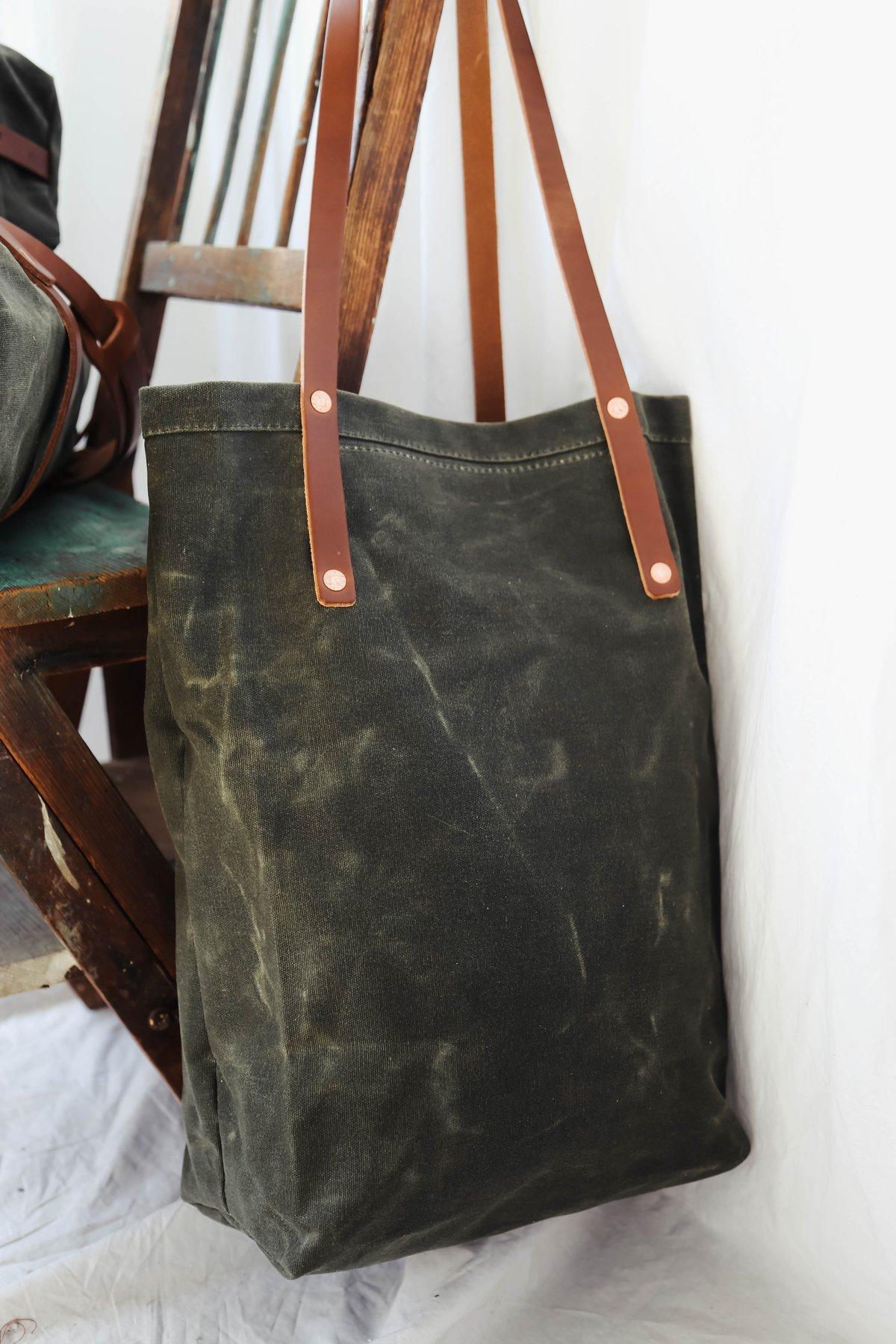 d8ebef2ef9e8 Oiled Canvas Tote Bag