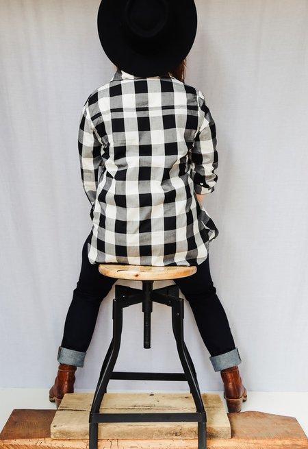 Tradlands Mott Button-Down Shirt - Black/White