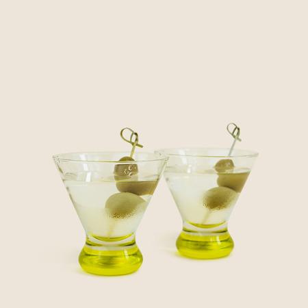 Vintage The Tabu Shop Tinted Martini Set