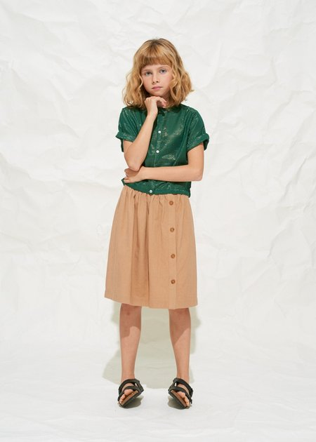 Kids Polder Girl Dahlia Blouse - Forest