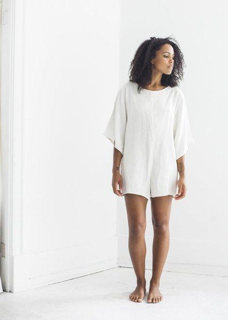 Nahanni Arntzen Wide Sleeve Romper - White