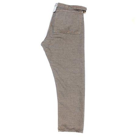 Tender Type 112 Fitted Pyjama Trouser -  Logwood Indigo Bicolor Canvas