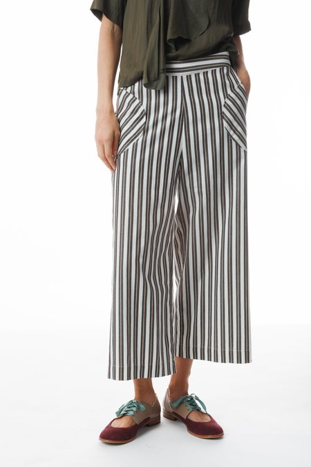 Purple Maroon Stripe Culottes