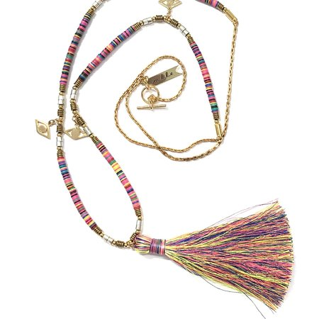 Marijke Bouchier Confetti with Large Tassel Necklace