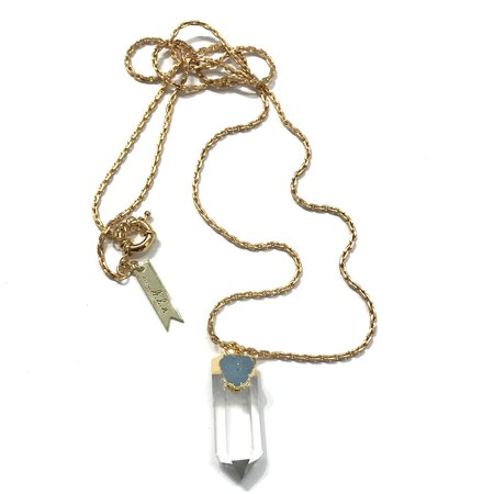 Marijke Bouchier Crystal Point & Druzy Necklace