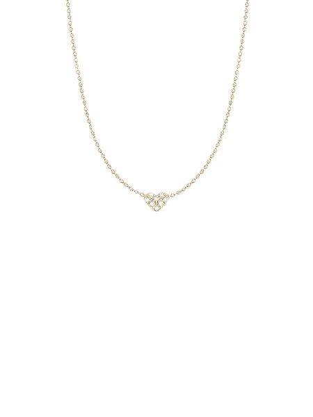 Sydney Evan 14K Pave Heart Necklace - GOLD
