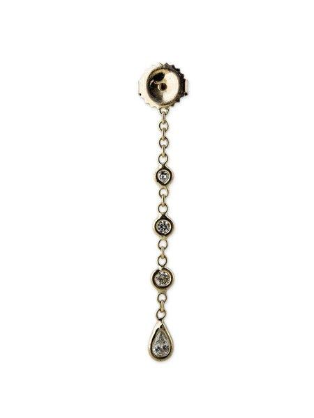 Jacquie Aiche 3 + 1 Single Diamond Teardrop Earring - GOLD