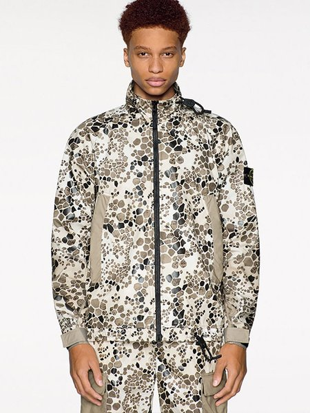 Stone Island Alligator Camo Jacket - BEIGE
