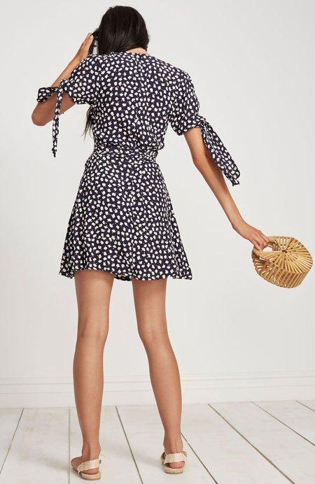 Faithfull The Brand Brigit Short Sleeve Mini Dress - NAVY FLORAL