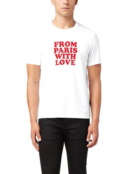 AMI From Paris with Love T-Shirt - White