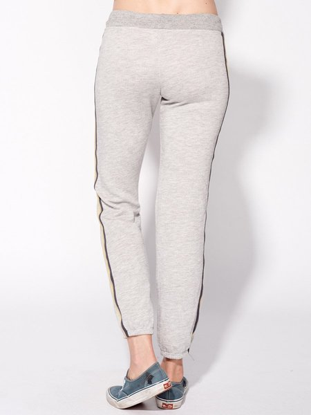 Sundry Stripe Side Sweatpant - Heather Grey