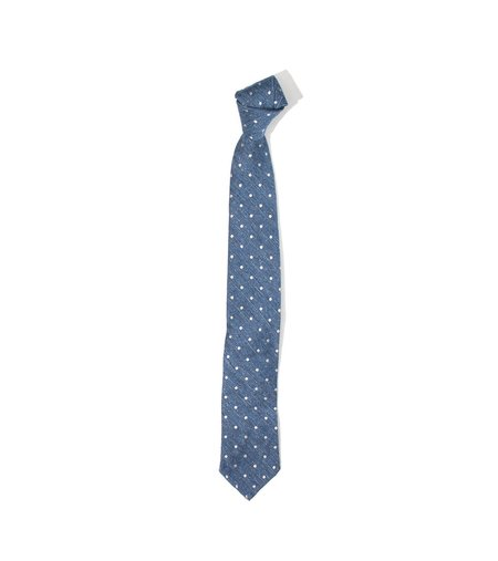 Freeman's Sporting Club Unstructured Tie - Blue Dot