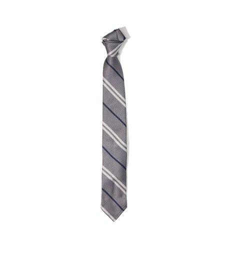 Freeman's Sporting Club Unstructured Tie - Silver Stripe