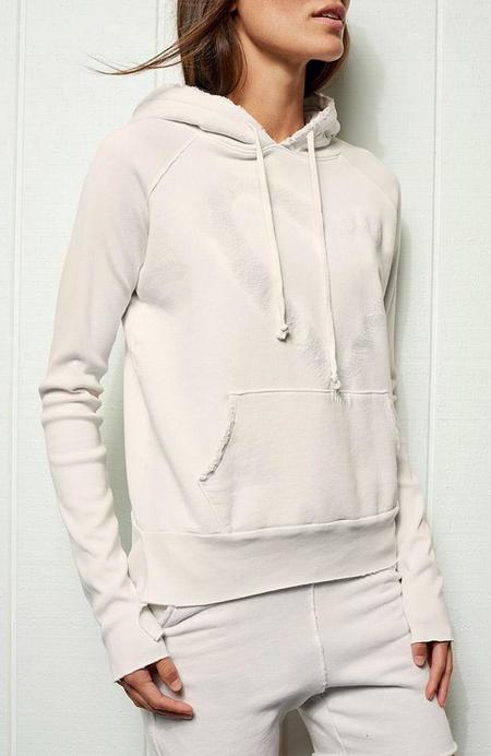 TEE LAB by FRANK & EILEEN Tonal Heart Pullover Hoodie - DIRTY WHITE
