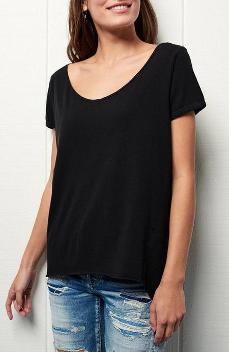TEE LAB by FRANK & EILEEN V-Neck Short Sleeve Tee - BLACKOUT